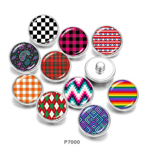 Painted metal 20mm snap buttons  color  pattern   Print