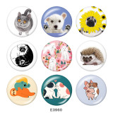Painted metal Painted metal 20mm snap buttons  snap buttons  Cat  Dog  Print