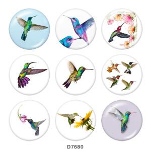 Druckknöpfe aus lackiertem Metall 20mm Vogel Druck