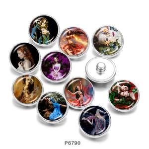 Крашеные металлические кнопки 20мм девушки танцуют принт