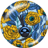 Painted metal Painted metal 20mm snap buttons  snap buttons  Flower  Butterfly   Print
