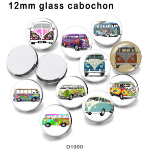 10pcs/lot  Car  glass picture printing products of various sizes  Fridge magnet cabochon