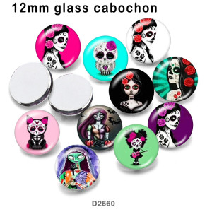 10pcs/lot  girl  glass picture printing products of various sizes  Fridge magnet cabochon