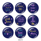 Painted metal 20mm snap buttons   arrow   words   Print