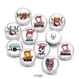 Painted metal 20mm snap buttons  MOM   Print