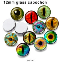 10pcs/lot  eye  color  glass picture printing products of various sizes  Fridge magnet cabochon