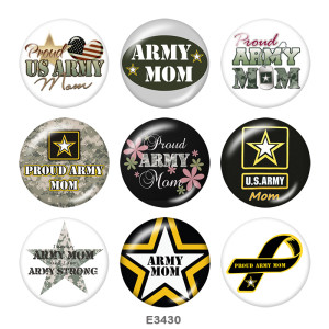 Painted metal Painted metal 20mm snap buttons  snap buttons  Army  MOM  Print
