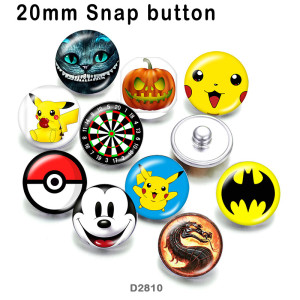 10pcs/lot  Cartoon  pet  glass picture printing products of various sizes  Fridge magnet cabochon