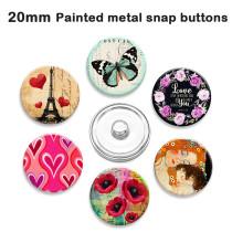 塗装金属 塗装金属 20mm スナップボタン スナップボタン エルフ プリント