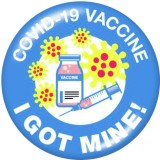 ペイントされた金属製の 20mm スナップボタン ワクチンを手に入れました 印刷