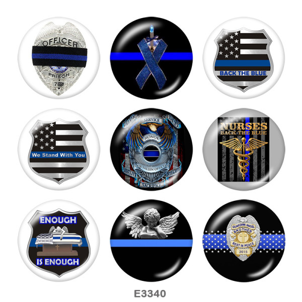 Painted metal Painted metal 20mm snap buttons  snap buttons  Enough  Is  Enough  Print