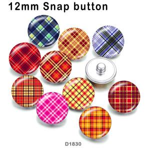 10 pcs/lot produits d'impression d'image en verre de modèle de différentes tailles cabochon d'aimant de réfrigérateur