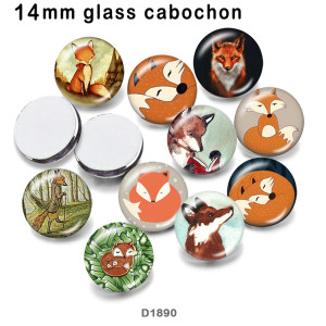 10pcs/lot  Fox   glass picture printing products of various sizes  Fridge magnet cabochon
