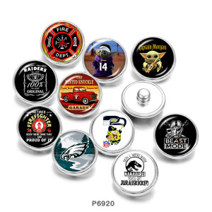 Painted metal 20mm snap buttons  Car   Print