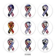 Painted metal Painted metal 20mm snap buttons  snap buttons   Army  Navy  Print