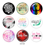 Painted metal Painted metal 20mm snap buttons  snap buttons  Love  words  Print