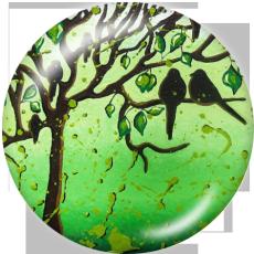 Крашеные металлические кнопки 20мм Древо жизни Печать