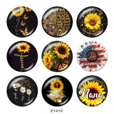 Крашеные металлические кнопки 20мм Цветочная Вера Принт