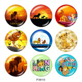 Painted metal 20mm snap buttons   The Lion King Print