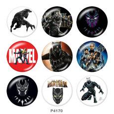 Botones a presión de 20 mm de metal pintado Marvel