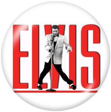 Painted metal 20mm snap buttons  Elvis Presley Print