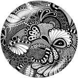 Motif décoratif de boutons-pression en métal peint de 20 mm Imprimer