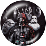 Painted metal 20mm snap buttons  Star Wars Print
