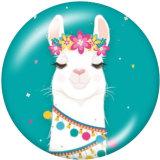 Painted metal 20mm snap buttons  Alpaca Print