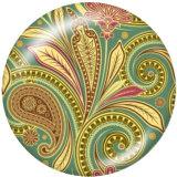 Bemaltes Metall 20mm Druckknöpfe dekoratives Muster Print