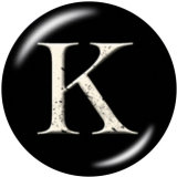 Lackierte Metall 20mm Druckknöpfe Alphabet 26 Wörter austauschbare Druckknöpfe Schmuck