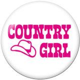 Druckknöpfe aus lackiertem Metall 20mm Country girl Print