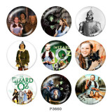 Painted metal 20mm snap buttons  The wizard of oz Print