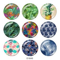 Окрашенные металлические кнопки 20 мм с принтом Botany