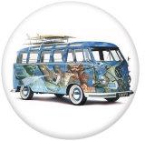 Boutons pression 20 mm en métal peint Autobus scolaire Imprimer