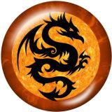Boutons pression 20mm en métal peint dragon Imprimer