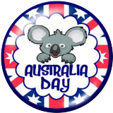 Boutons pression 20 mm en métal peint Koala en Australie Imprimer