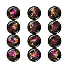 塗装済みメタル20mmスナップボタン誕生石 12星座スナップボタン