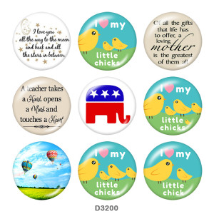 Painted metal 20mm snap buttons  Mother's Day