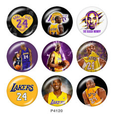 Painted metal 20mm snap buttons  basketball