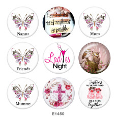 Painted metal 20mm snap buttons   Cross  Butterfly  Print
