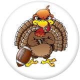 Boutons pression 20 mm en métal peint Imprimé Thanksgiving