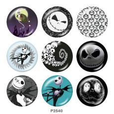 Окрашенные металлические кнопки 20мм принт на Хэллоуин