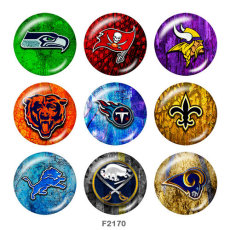 Painted metal 20mm snap buttons  team Sport