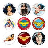 Boutons pression 20 mm en métal peint Wonder woman