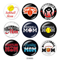 Painted metal 20mm snap buttons  MOM family Print