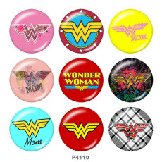 Painted metal 20mm snap buttons  Marvel