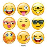20 mm Druckknöpfe aus lackiertem Metall Emoji-Druck