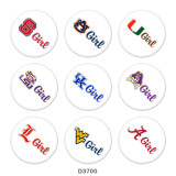 Painted metal 20mm snap buttons  Team logo Print