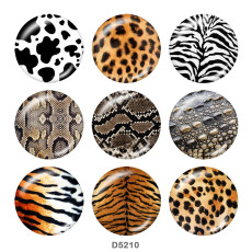 Painted metal 20mm snap buttons   Animal pattern   Print