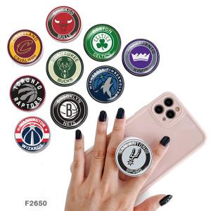 Team sports logo The mobile phone holder Painted phone sockets with a black or white print pattern base